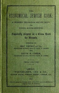 The Economical Jewish Cook by May Henry and Edith B. Cohen